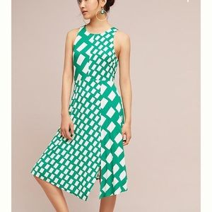 Green and white Tracy Reese dress